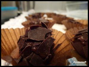 Trufas de chocolate y nueces