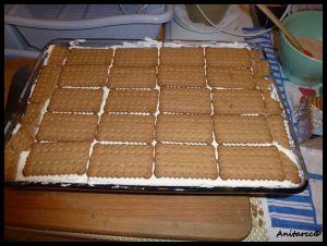 Última capa de galletas