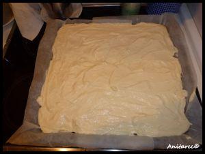 Cubrimos el molde con la crema de queso