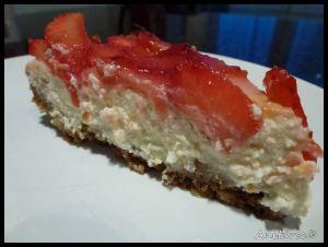 Una porción de tarta