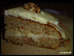 Tarta de zanahorias con crema de queso