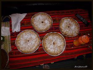 Cuatro tartas listas