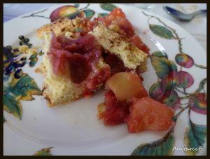 Tarta de manzanas y frambuesa