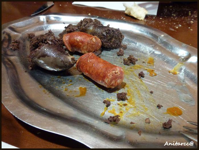 Choricitos y morcilla