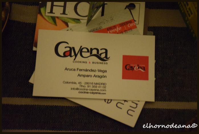 Tarjeta de visita de Cayena Cocina