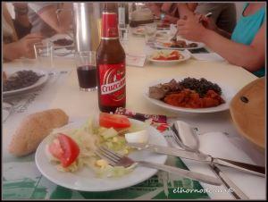 Un día de comida en el albergue