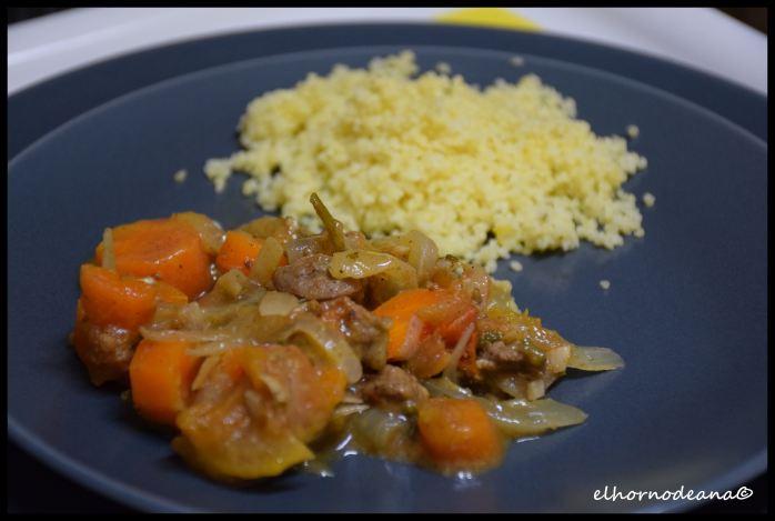 Guiso de carne de cordero con cuscus